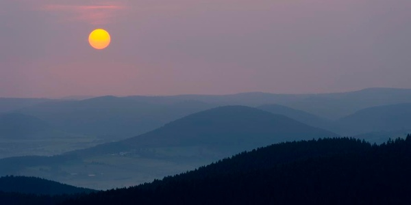 Kahleberg Sonnenuntergang