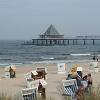 Auch am Strand von Bansin befindet sich eine, für die drei Kaiserbäder typische Seebrücke.