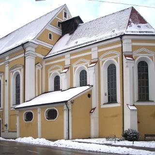 Die Jesuitenkirche in Mindelheim.
