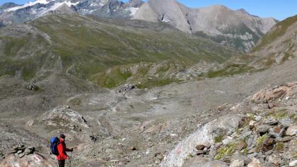 Weg in Richtung Peischlachtörl mit Blick auf den Großglockner