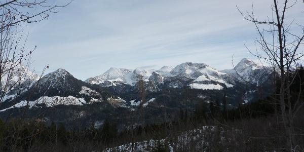 Jenner, Schneibstein, Rothspielscheibe und Kahlersberg im Winter