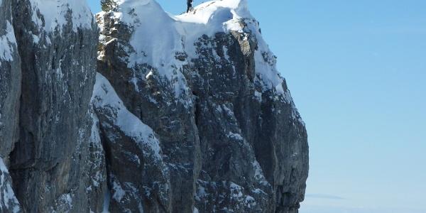 Auf dem Gipfel des Toreck im Winter