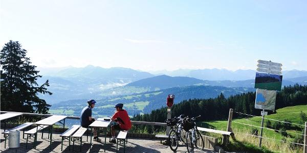Rastplatz am Berggipfel
