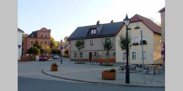 Der Erlbacher Marktplatz.