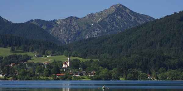 Altwiessee mit dem Kampen im Hintergrund