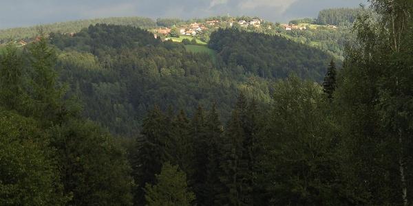 Der Ausblick von der Ortschaft Marienhöhe
