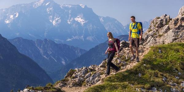 Gipfel Teufellstättkopf - Hüttenwanderung - Ammergauer Höhenweg