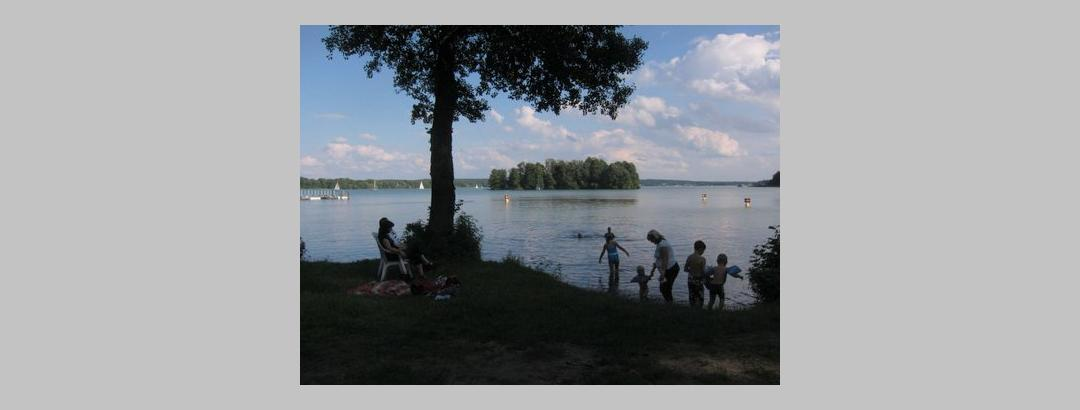 Badestrand bei Bad Saarow  am Scharmütelsee