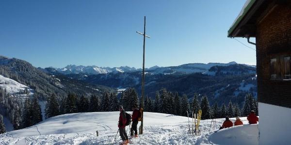 Obere Balderschwanger Alpe im Winter