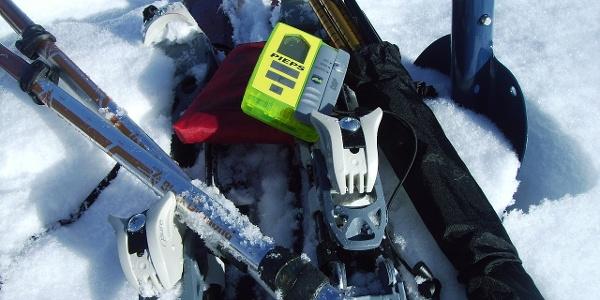 Unverzichtbare Ausrüstung auf Skitour.
