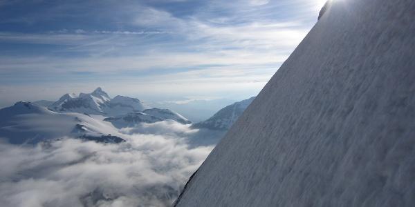 wunderschöne Ausblicke während der gesamten Tour (Wiesbachhorn)
