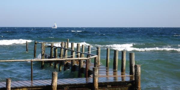 Im Hafen des Fischerdorfes Vitt gehört fangfrischer Fisch zu den ortstypischen Spezialitäten.
