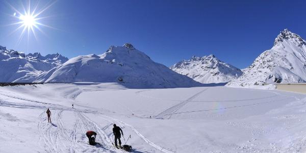 Bielerhöhe, Blick in die Silvretta