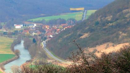 Blick auf die Landschaft um Nebra.
