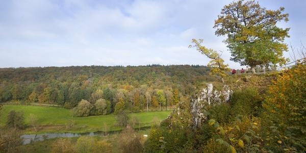 Aussichtsplattform an der Domäne Falkenstein