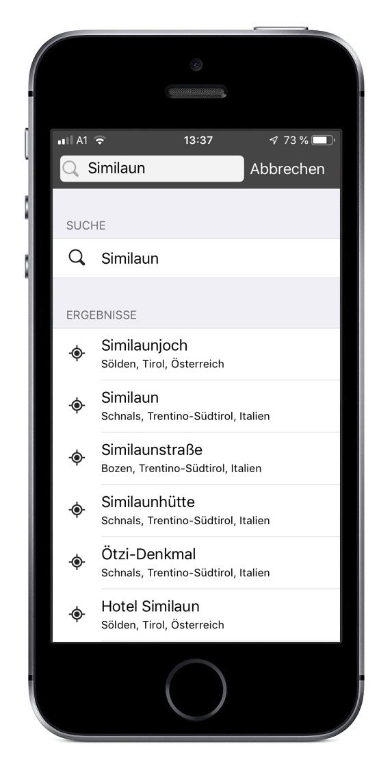 Suchergebnis zu dem Namen Similaun