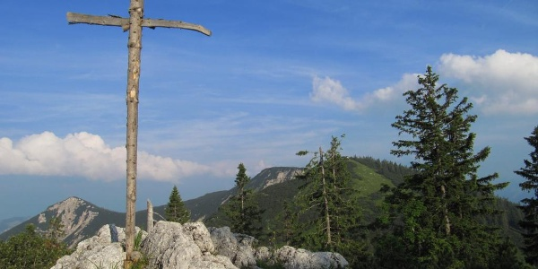 Predigtstuhlgipfel oberhalb der Hütte