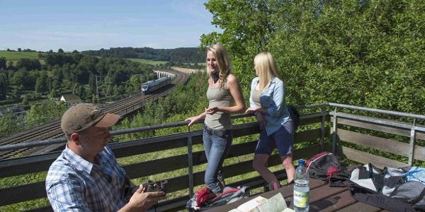 Aussichtsplattform am Viadukt