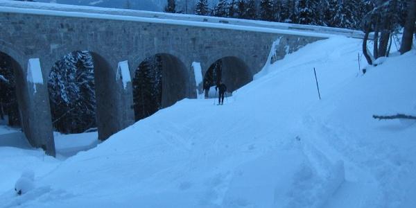 Viadukt - unter der Rossfeldstraße hindurch