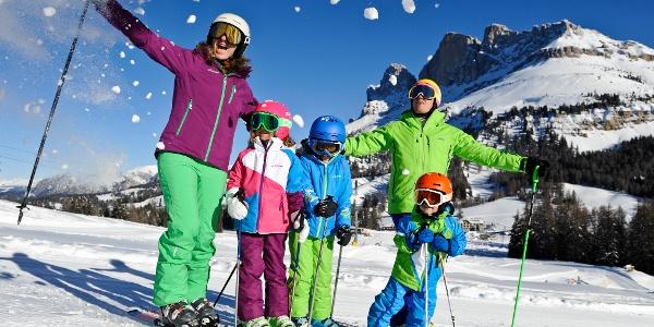 Una giornata di sci in famiglia