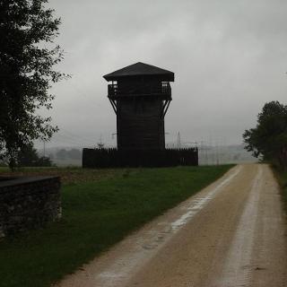 Wachturm im Nebel