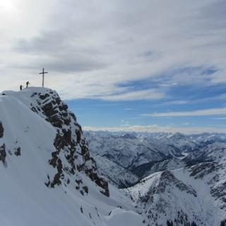 Skitour Kreuzspitze - Gipfel