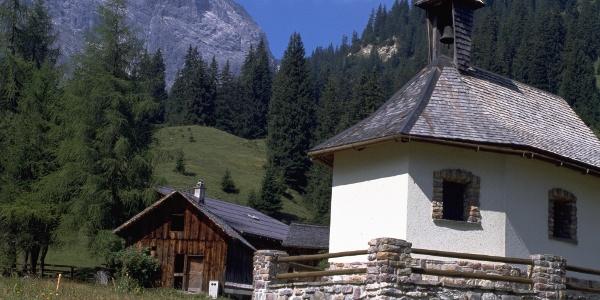 Rellstal Kapelle mit Saulakopf