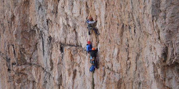 Climbers at Campanile Basso