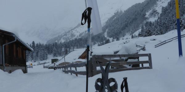 Am Alpengasthof Lüsens
