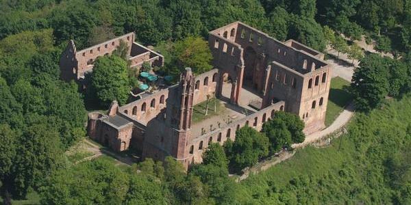 Klosterruine Limburg Luftbild