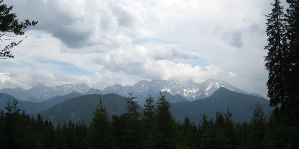 Sicht auf die Steiner Alpen