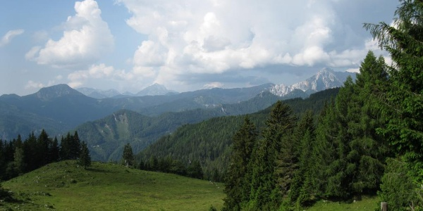 Das Panorama von der Obiralm