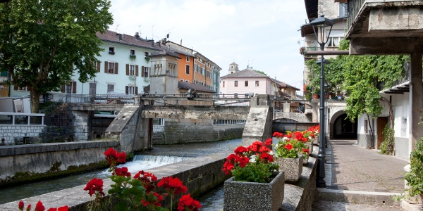 Il fiume Brenta a Borgo Valsugana