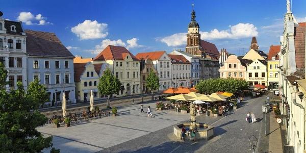 Die Tour startet auf dem Cottbuser Altmarkt.