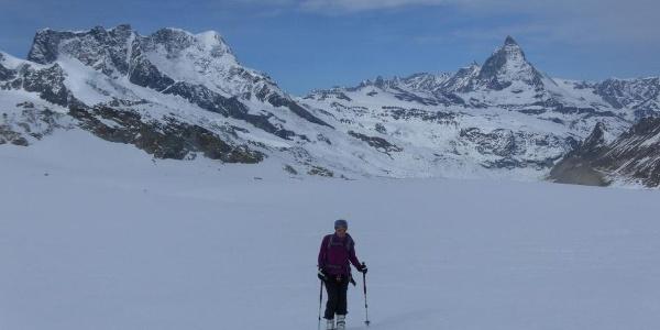 Gornergletscher mit Breithorn und Matterhorn