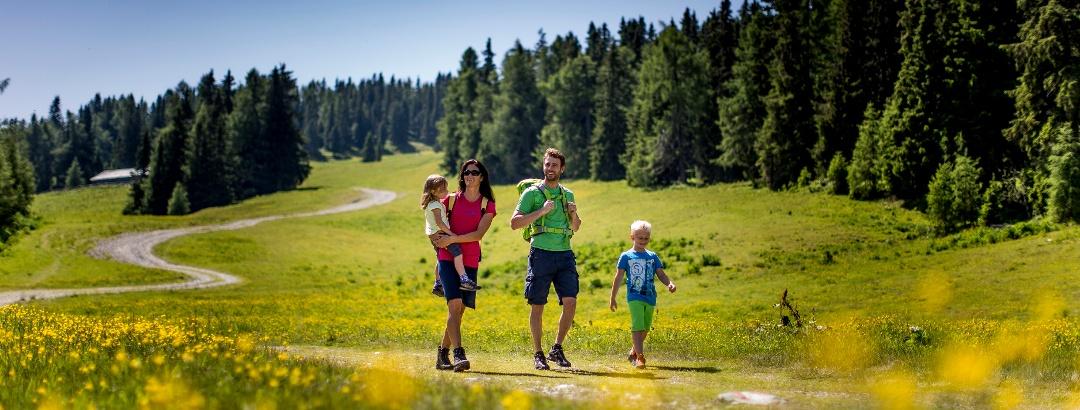 Randonnée en famille en Autriche