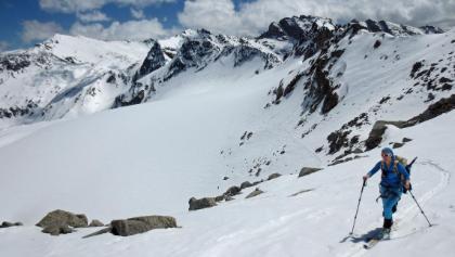 Aufstieg am oberen Goldbergkees auf ca 2800m