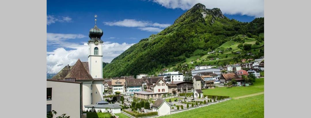 Blick auf das Dorf Gersau.