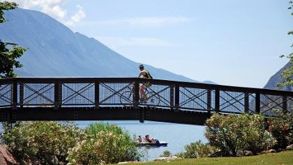 Along the lake promenade in Riva del Garda