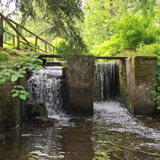 The beginning of this mill canal - the weir in Eichelhütte