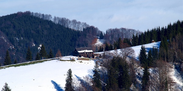 Tiefblick zur Grünburger Hütte