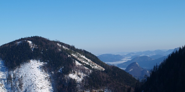 Hochbuchberg vom Gaisberg 1267m gesehen