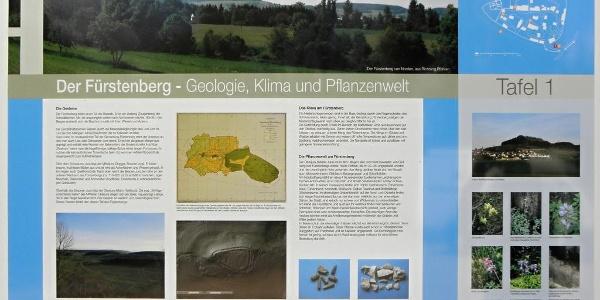 Tafel 1: Der Fürstenberg – Geologie, Klima und Pflanzenwelt