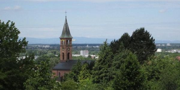 Blick auf Kirche in Ohlsbach