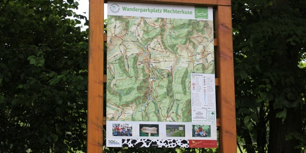 Der Startpunkt Ihrer Tour am Wanderparkplatz Mechterkuse