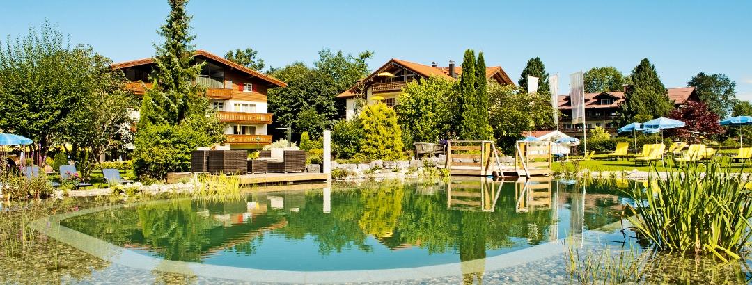 Natural hotel pool at Parkhotel Frank