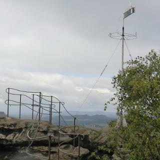 Wetterfahnenaussicht am Gohrisch Westseite