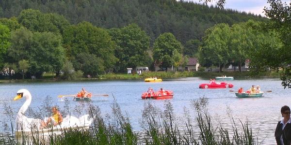 Bootfahren auf dem Itzelberger See