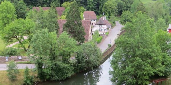 Blick auf das ehemalige Kloster Reuthin