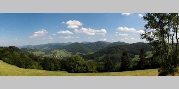 Blick Richtung Süden von Peilstein bis zum Ötscher